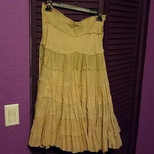 100% cotton skirt with zipper